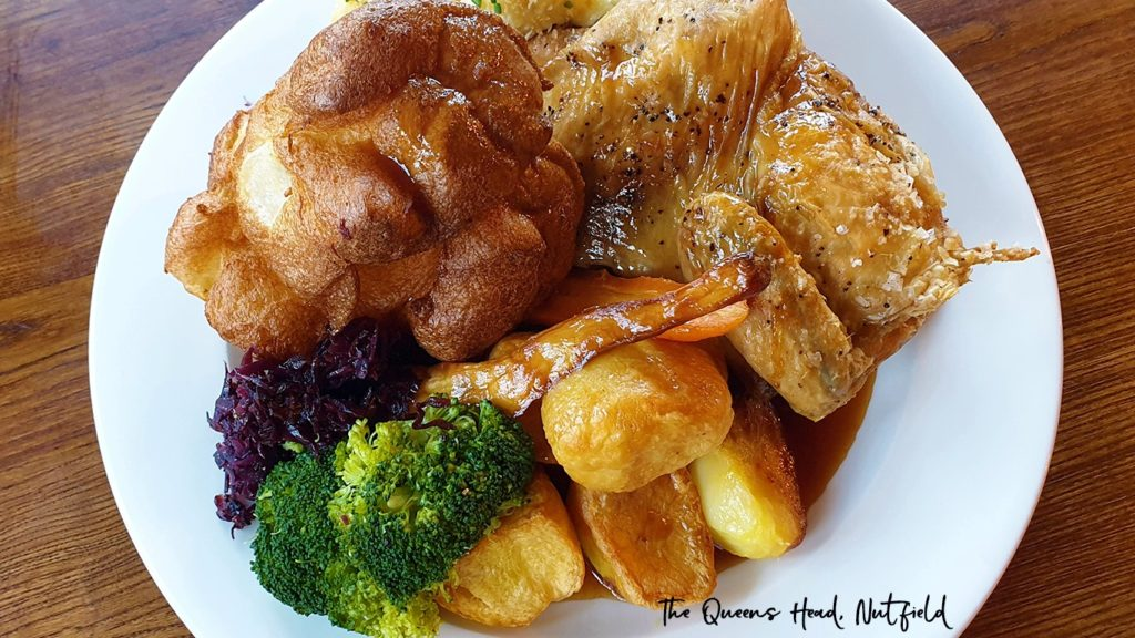 Sunday Roast at the Queens Head Pub at Nutfield, Redhill, Surrey