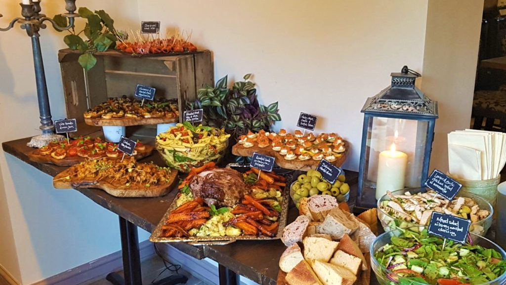 buffet at private function at the Queens Head Pub at Nutfield, Redhill, Surrey
